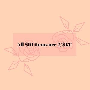 🌺 $10 items are 2/$15!!!